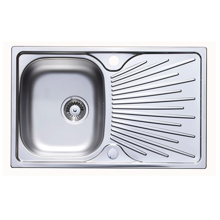 Astracast Sunrise 1 Bowl Stainless Steel Compact 800mm Sink & Drainer