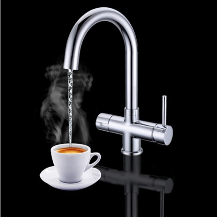 Vellamo Java Instant Hot And Cold Kitchen Sink Mixer