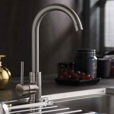 Vellamo Revolve Brushed Stainless Steel Mono Kitchen Sink