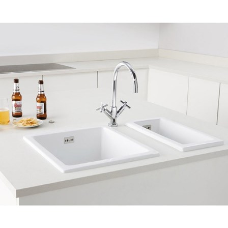 Butler rose square inset or undermount white ceramic kitchen sink view larger image workwithnaturefo