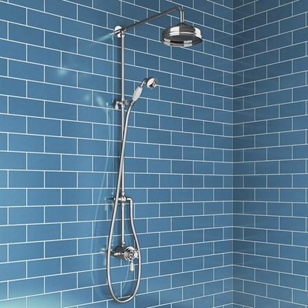 Butler & Rose Victoria Thermostatic Shower Valve & Rigid Riser Kit ...