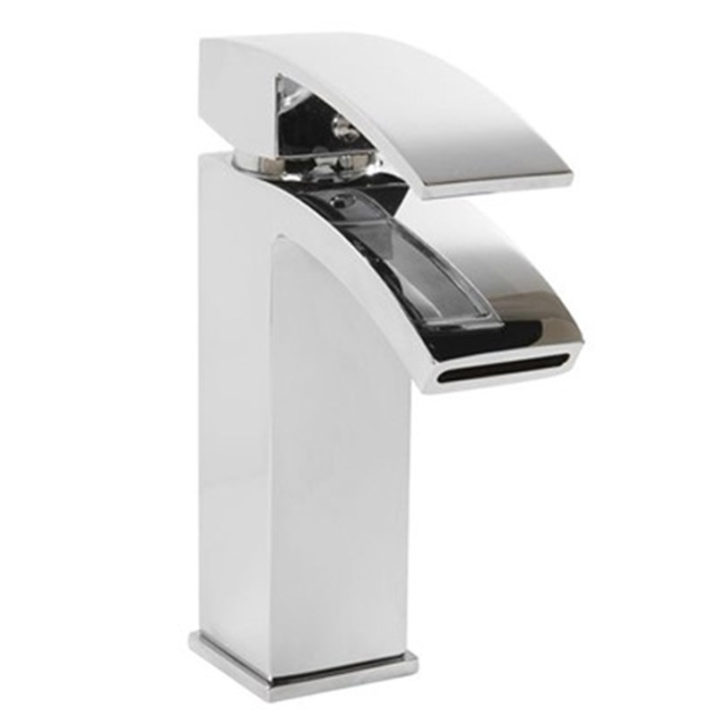 Vellamo City Waterfall Basin Mixer Tap with Clicker Waste