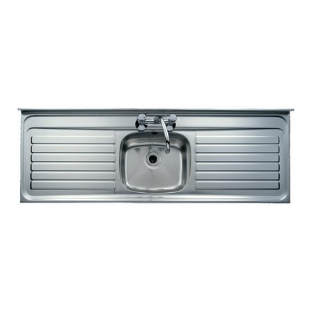Clearwater Contract Lay-On Single Bowl Stainless Steel Sink (Square ...