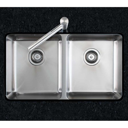 Clearwater Salsa Double Bowl Brushed Stainless Steel