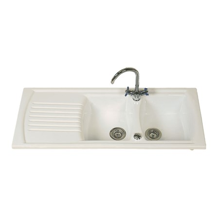 double drainer ceramic kitchen sinks clearwater sonnet white ceramic bowl sink with 8804