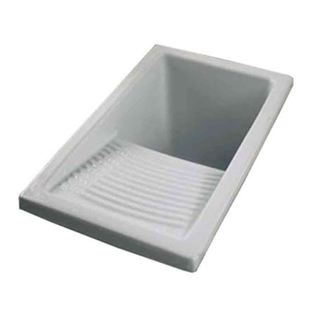 Small Utility Sink : Clearwater Small White Ceramic Laundry Sink - 395 x 610mm Tap ...
