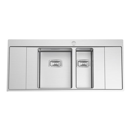 Clearwater Xeron BC 1.5 Bowl Brushed Stainless Steel Sink with ...
