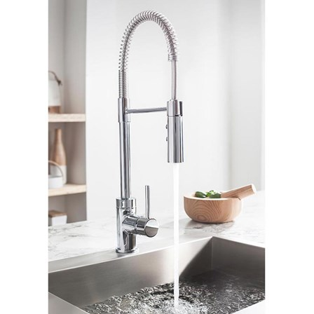 Crosswater Cucina Cook Side Lever Mono Kitchen Mixer with Flexi ...