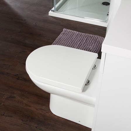 large d shaped toilet seat. View Larger Image Vellamo Modern D Shaped Back To Wall Toilet With Soft Close Seat