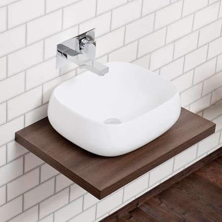 Countertop Basin And Walnut Floating Shelf Tap Warehouse