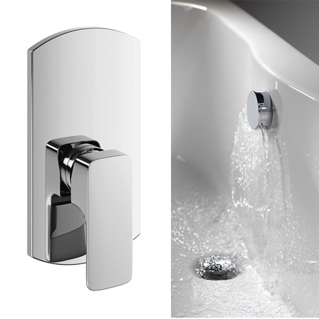 Vellamo Panache Bath Overflow Filler With Concealed Valve