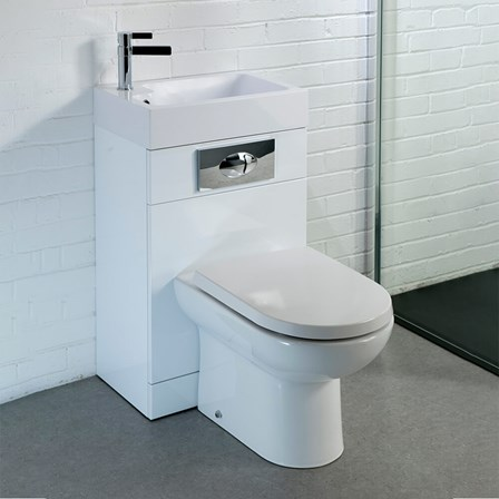 large d shaped toilet seat. View Larger Image  Gallery Vellamo Structure All In One Gloss White Basin And Toilet Unit With