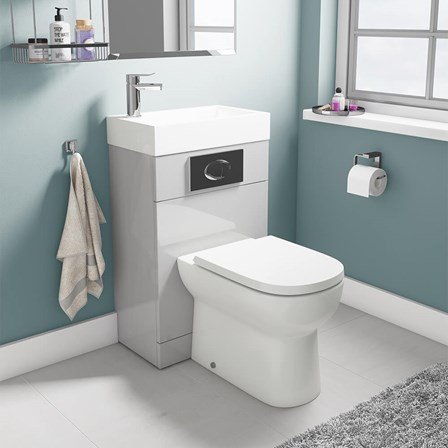 large d shaped toilet seat. View Larger Image  Gallery Vellamo Structure All In One Gloss Grey Basin And Toilet Unit With D