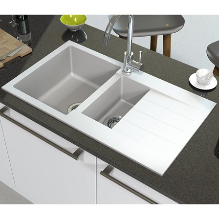 Astracast Helio 1.5 Bowl Granite ROK® Composite Sink & Waste Kit ...