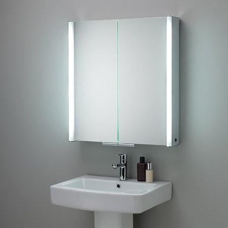 Hib Xenon 80 Led Illuminated Mirror Cabinet With Mirrored