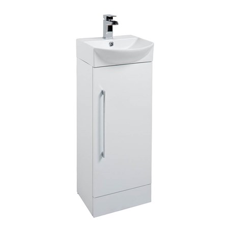 small vanity unit with sink. Vellamo Aspire Compact Cloakroom 350mm Floorstanding White Small Vanity Unit  Basin ITE002