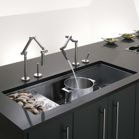 undermount kitchen sinks with drainer kohler stages single bowl brushed stainless steel 8731