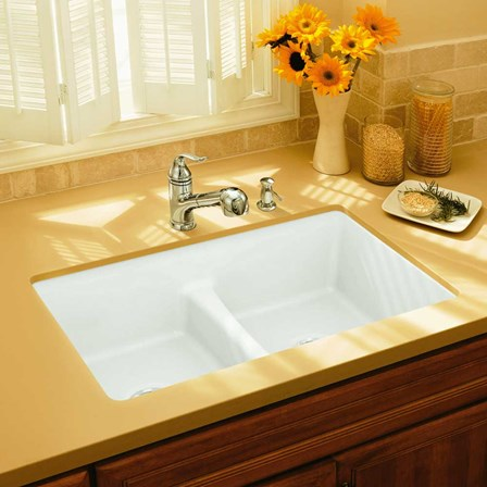 Kohler Deerfield Smart Divide Double Bowl Undermount Cast Iron Sink