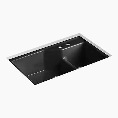 Kohler Indio Double Offset Undermount Cast Iron Sink