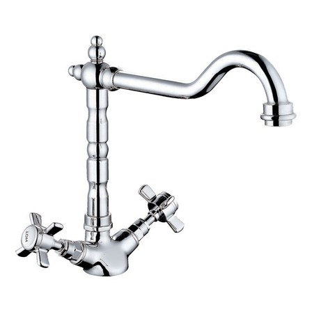 Butler rose abbey traditional mono kitchen mixer tap for Traditional kitchen taps