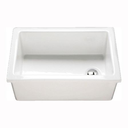 RAK Laboratory White Ceramic Single Bowl Kitchen Sink 585mm X 380mm Tap W