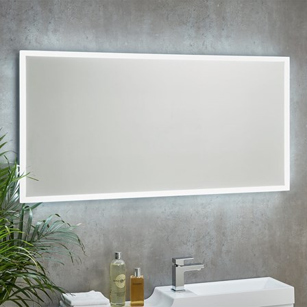 led bathroom mirrors with demister and shaver socket harbour glow led mirror with demister pad amp shaver socket 26447
