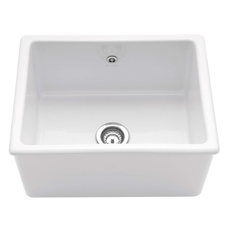 Caple Lingfield Single Bowl White Ceramic Inset Butler Sink - 595 x ...