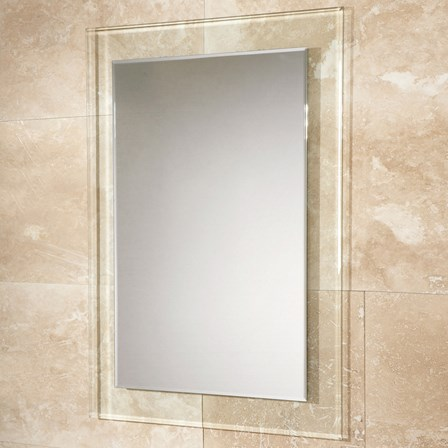 HIB Lola Landscape or Portrait Mirror with Clear Glass Frame - 700 x ...