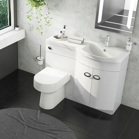Drench Lorraine 1100mm Combination Basin Amp Toilet Unit