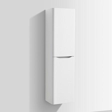 Harbour Clarity 1500mm Tall Bathroom Storage Unit White Ash Wmsc150w