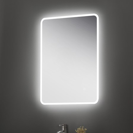 Heated demister bathroom mirrors steam free demister pad mirrors vellamo led illuminated universal bathroom mirror with demister pad shaver socket 700mm x 500mm rollover image aloadofball