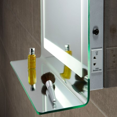 bathroom mirror light shaver socket roper gamma backlit mirror with shaver socket 760 22234
