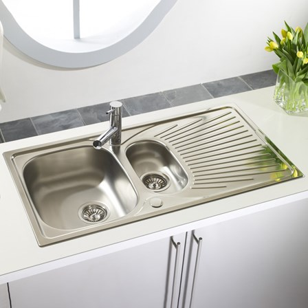 Astracast Quasar 1.5 Bowl Polished Stainless Steel Sink with ...