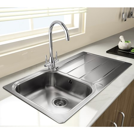 kitchen sinks and taps sale rangemaster glendale 1 bowl brushed stainless steel sink 8584