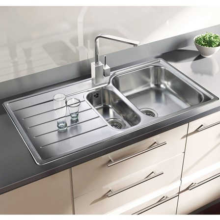 but the kitchen sink rangemaster oakland 1 5 bowl brushed stainless steel sink 5000