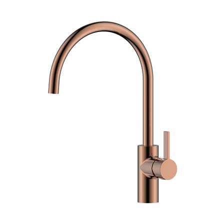 Just Taps Rose Gold Single Lever Kitchen Sink Mixer | Tap ...