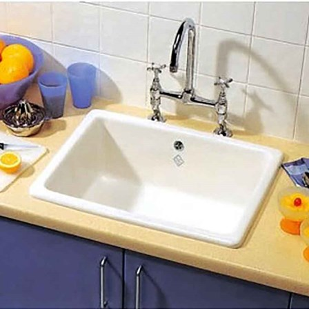 white inset kitchen sink shaws classic inset or undermount white ceramic single 1319