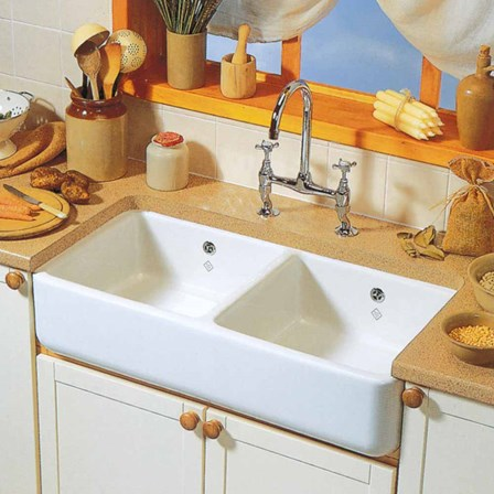 Shaws Classic Farmhouse Ceramic Double Bowl Belfast Sink
