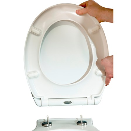 top fixing wooden toilet seat. Vellamo Duroplast Soft Close Top Fix Toilet Seat with Quick Release Hinges  455 x 375mm Seats Wooden Tap Warehouse