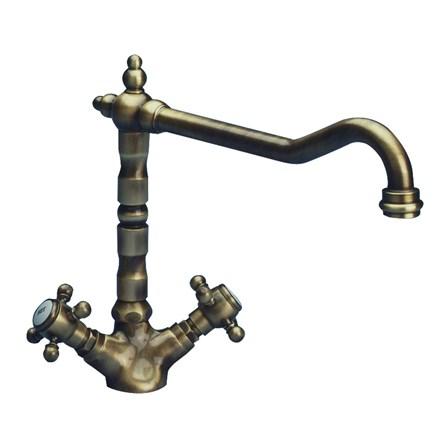 Astracast Camargue Antique Monobloc Kitchen Sink Mixer Tap - Bronze ...
