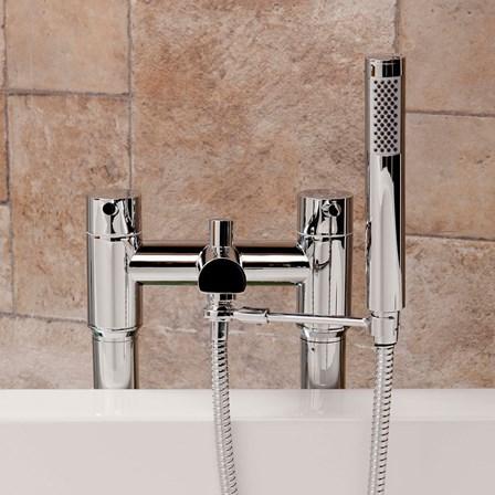 Universal Tap-Mounted Shower Handset Holder for Bath Shower Mixer ...