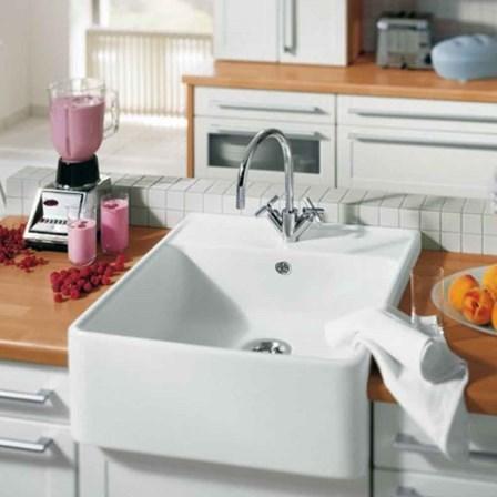 Villeroy Amp Boch Butler 60 White Ceramic Plus Single Bowl