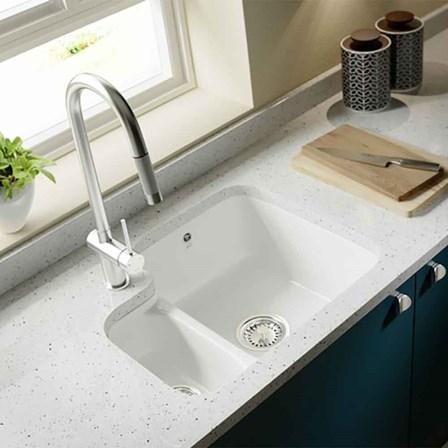 Villeroy Amp Boch Cisterna White Ceramic Left Handed 1 5 Bowl Undermount Sink 545mm X 440mm Tap Warehouse