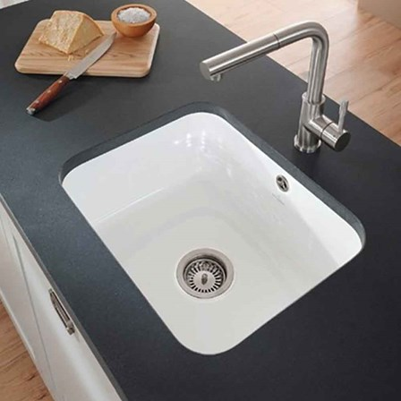 Villeroy & Boch Cisterna White Ceramic Large Single Bowl Undermount ...