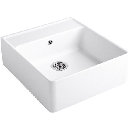 Butler belfast kitchen sinks single double small large tap villeroy boch butler 60 white ceramic plus single bowl belfast sink with tap ledge rollover image workwithnaturefo