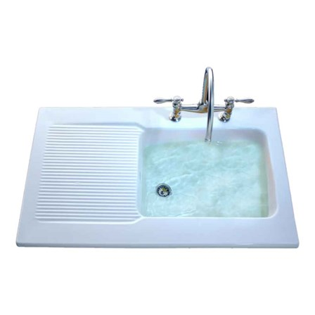 Villeroy & Boch Provence White Ceramic Single Bowl Sink with ...