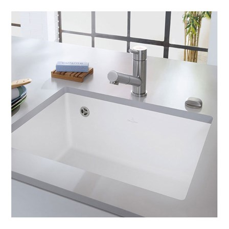 white porcelain kitchen sinks undermount villeroy amp boch subway 60 su white ceramic single bowl 1860