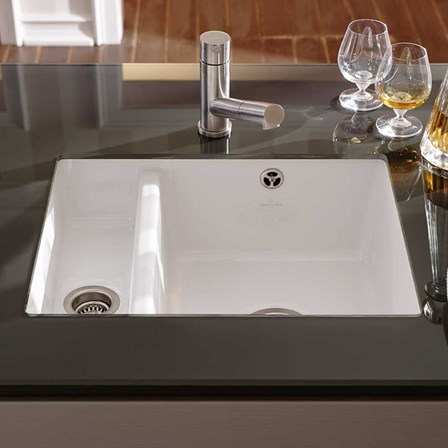 white porcelain kitchen sinks undermount villeroy amp boch subway xu alpine white ceramic 1 5 bowl 1860