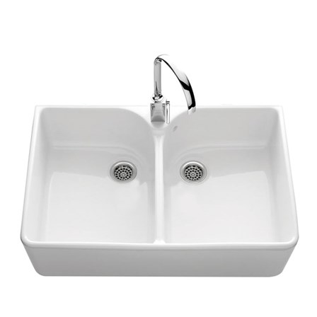 Villeroy boch farmhouse 90 white ceramic double bowl belfast sink 895 x 550mm tap warehouse - Butler kitchen sinks ...