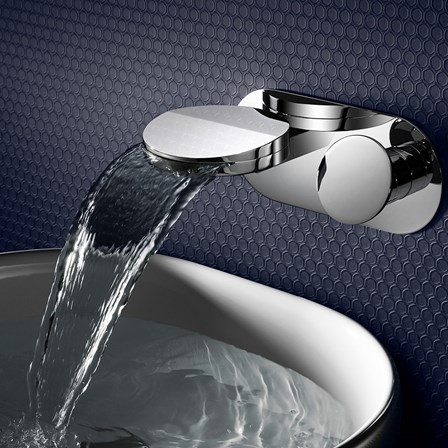 Crosswater Water Circle Wall Mounted Waterfall Basin Mixer